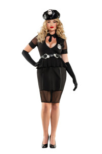 S6028X Plus Size Nightshift Cop Costume