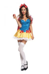 S2102 Sequin Snow White Womens Costume