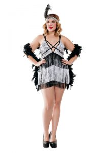 S3019X Plus Size Boardwalk Flapper Womens Costume