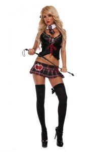 S3274 Provocative School Girl Womens Costume