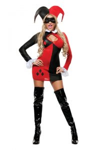 S4077 Harley Quin Womens Costume