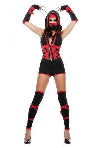S4397 Red Dragon Ninja Womens Costume