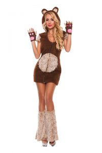 S5006 Cuddle Me Bear Womens Costume
