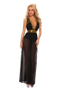 S5008 Black Goddess Sexy Womens Costume