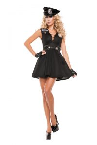 S5031 Fashion Police Sexy Cop Womens Costume