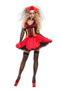 S5182 Cinched Day of the Dead Costume