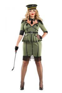 S6027X Plus Size Army Brat Womens Costume