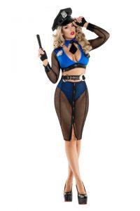 S6047 Naughty Net Cop Womens Costume