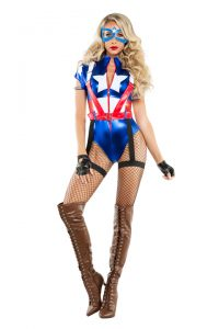 S6096 Captain USA Womens Costume