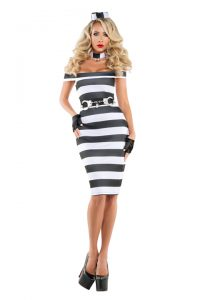 S6179 Pinup Prisoner Womens Costume
