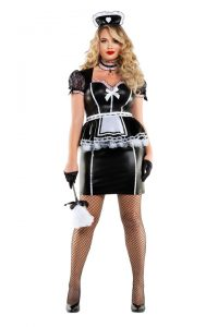 S6181X Plus Size Mistress Maid Womens Costume