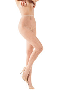 SH001 Starline Fishnet Tights Nude