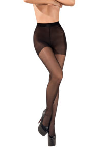 SH004 Starline Cuban Heel Tights Black
