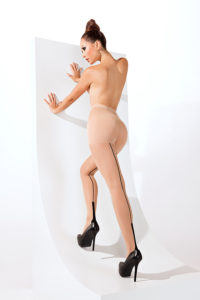 SH004 Starline Cuban Heel Tights Nude