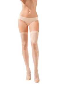 SH015 Starline Sheer Thigh Highs Nude
