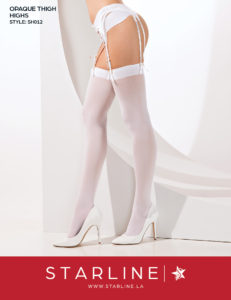 Boxed SH012 Opaque Thigh Highs White