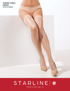 Boxed SH015 Sheer Thigh Highs Nude