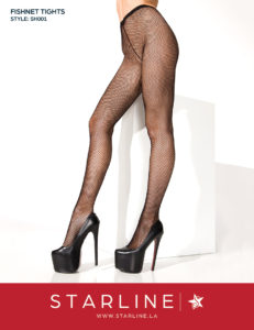 Boxed SH001 Fishnet Tights Black