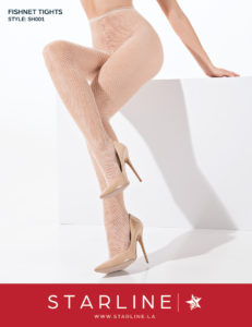 Boxed SH001 Fishnet Tights White