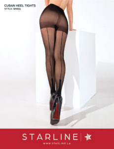 Boxed SH004 Cuban Heel Tights Black