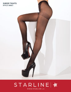 Boxed SH017 Sheer Tights Black