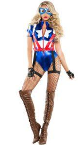 Starline S6096 Women's Captain USA Costume - A