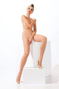 SH002 Starline Net Tights Nude