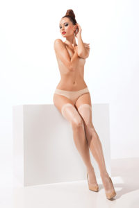SH015 Starline Sheer Thigh Highs Nude