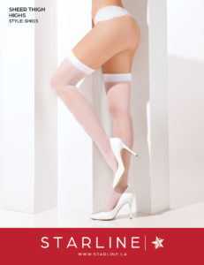 Boxed SH015 Sheer Thigh Highs White