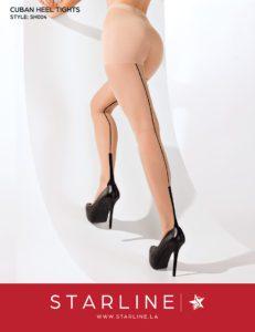 Boxed SH004 Cuban Heel Tights Nude
