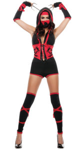 Starline S4397 Women's Red Dragon Ninja Costume - A