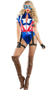 Starline S6096 Women's Captain USA Costume - A
