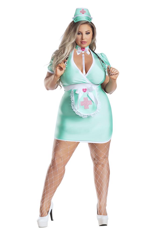 Starline Plus Size Scrubs Nurse Costume