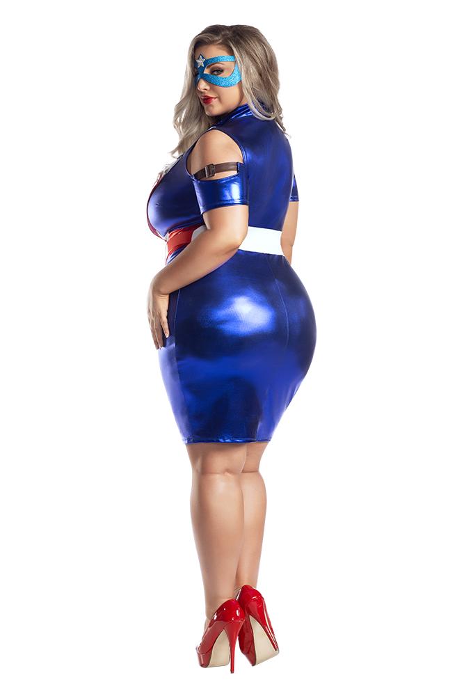 Starline Plus Size Captain USA Costume